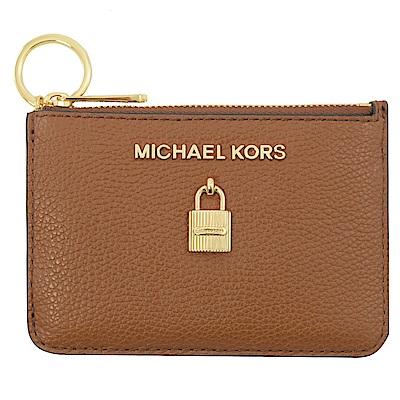 MICHAEL KORS ADELE 鎖頭造型鑰匙零錢包(咖)
