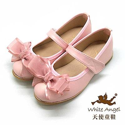 天使童鞋 韓式緞帶蝴蝶結公主鞋 J941-粉
