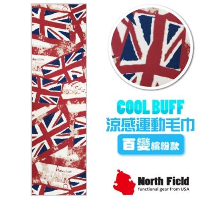 North Field COOL BUFF 百變繽紛款 降溫速乾吸濕排汗涼感運動毛巾_大不列顛