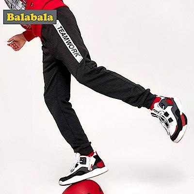 Balabala巴拉巴拉-動感線條運動棉褲-男(2色)