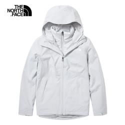 The North Face北面女款灰色防水保暖戶外三合一外套|46IC9B8