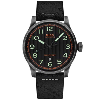 MIDO美度 MULTIFORT先鋒系列 復刻機械錶-黑/44mm