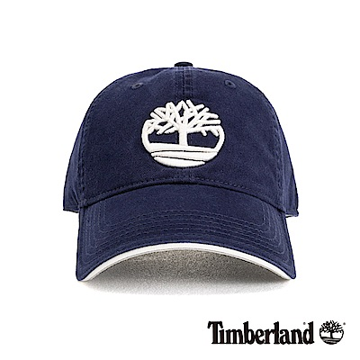 Timberland 深藍色前後刺繡LOGO棒球帽 A1EOO