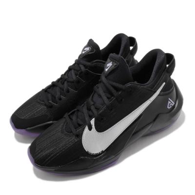 Nike 籃球鞋 Freak 2 運動 女鞋 避震 包覆 明星款 字母哥 大童 球鞋 黑 紫 CN8574005