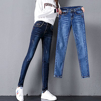 ALLK 高腰直筒牛仔褲 共2色(尺寸27-31腰)