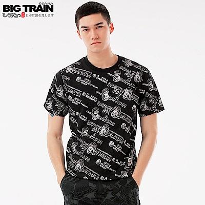 BigTrain翻轉潮流滿版印花短袖T-男-黑色