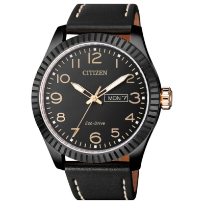 CITIZEN 星辰 光動能限量款復刻傳奇時尚男錶(BM8538-10E)-黑/42mm