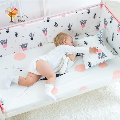 JoyNa-荷蘭Muslintree嬰兒床加厚防撞床圍寶寶防摔床墊(一入)
