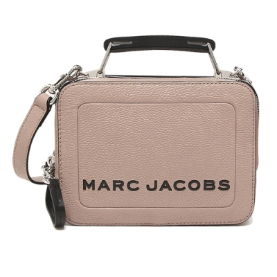 MARC JACOBS THE BOX 20 雙拉鍊牛皮手提/肩背兩用包(小款/可可粉)