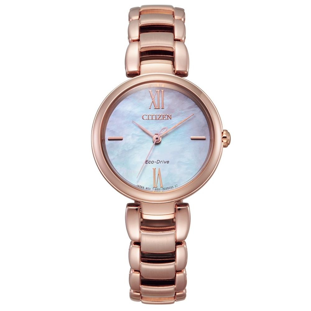 CITIZEN L系列璀璨光動能時尚腕錶EM0532-85D