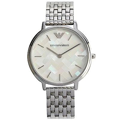 EMPORIO ARMANI 都會女仕不鏽鋼腕錶-(AR11112)-32mm