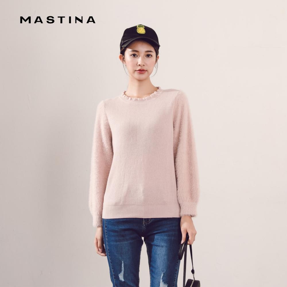 【MASTINA】花邊領口造型-針織衫(三色)