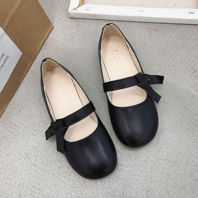 KEITH-WILL時尚鞋館 好感吸晴甜蜜俏皮豆豆鞋-黑