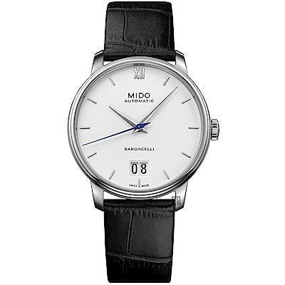 MIDO 美度 BARONCELLI 永恆系列 III 大日期機械錶-銀x黑/40mm M0274261601800