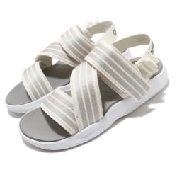 adidas 涼拖鞋 90s Sandal 套腳 穿搭 女鞋 愛迪達 夏日 輕便 舒適 簡約 球鞋 米白 灰 EG5133