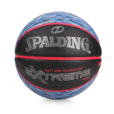 SPALDING SGT-Rubber 籃球 黑藍紅