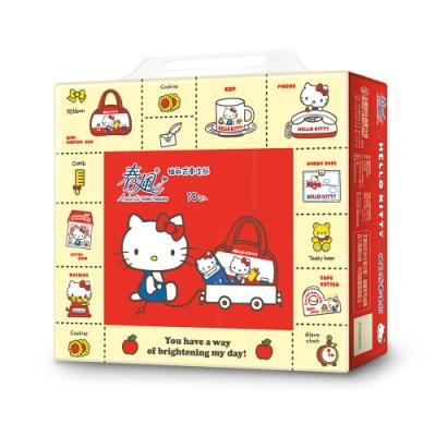春風 抽取式衛生紙(100抽x70包/箱)-Hello kitty雜貨風
