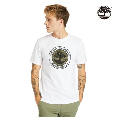 Timberland 男款白色品牌故事有機棉短袖T恤 A24Y1