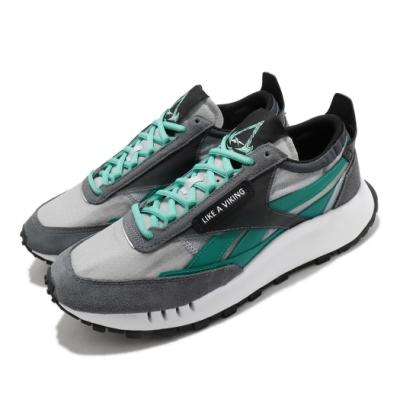 Reebok 休閒鞋 CL Legacy 聯名 運動 男鞋 維京風格 異材質拼接 復古 球鞋 穿搭 灰 綠 GZ8459