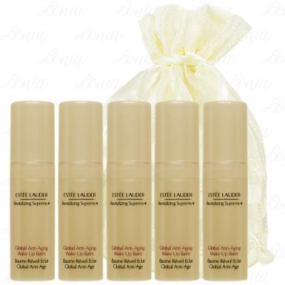 【真品平輸】 ESTEE LAUDER 年輕肌密煥膚凝乳(5ml)(精巧版)*5旅行袋組