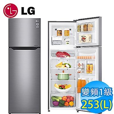 [無卡分期12期] LG樂金 253L 1級變頻2門電冰箱 GN-L307SV 星辰銀