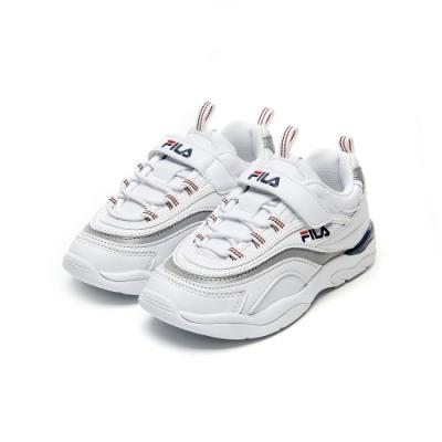 FILA KIDS RAY KD 大童運動鞋-白 3-C146V-1