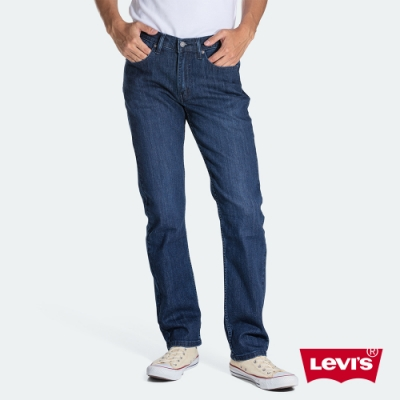 Levis 男款 514 低腰合身直筒牛仔褲 深藍基本款 彈性布料