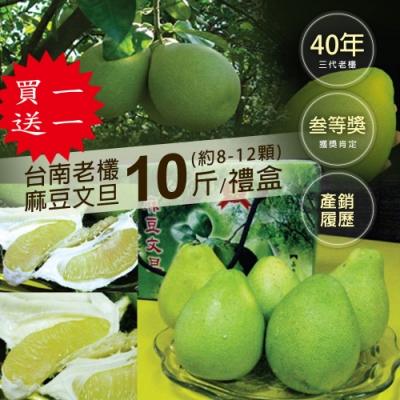 買1送1-築地一番鮮-頂級40年老欉台南麻豆文旦10斤(8-12顆)