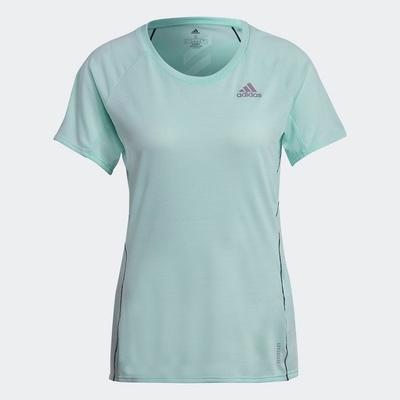 ADIDAS 上衣 運動 健身 慢跑 短袖上衣 女款 綠 GJ9908 ADI RUNNER TEE