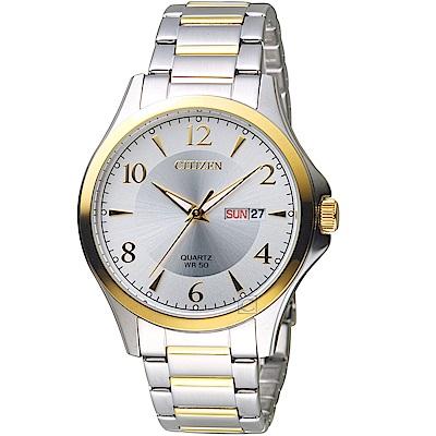 CITIZEN 星辰經典雅痞時尚腕錶(BF2005-54A)-鋼帶