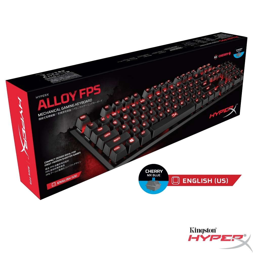 HyperX Alloy FPS 機械式 電競鍵盤 (英文-Cherry MX 青軸)