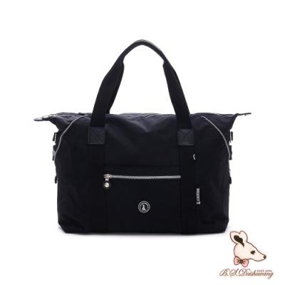 B.S.D.S冰山袋鼠-威尼斯假期x防水大容量附插袋旅行包-純色黑