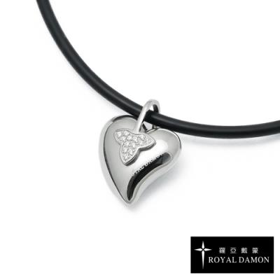 ROYAL DAMON x &MORE 鈦鍺項鍊 + 鍺錠白鋼墜 玩美