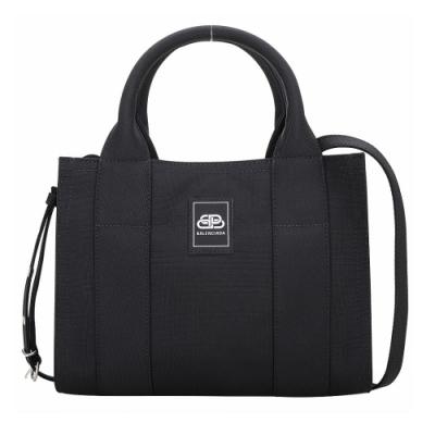 BALENCIAGA Trade 品牌徽標斜背/手提托特包(黑色)