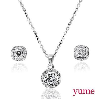 (時時樂限定)YUME 秋日閃亮純銀套組(項鍊+耳環) 特價$629
