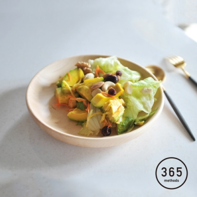 日本365methods 天然楓木深型餐盤-21cm