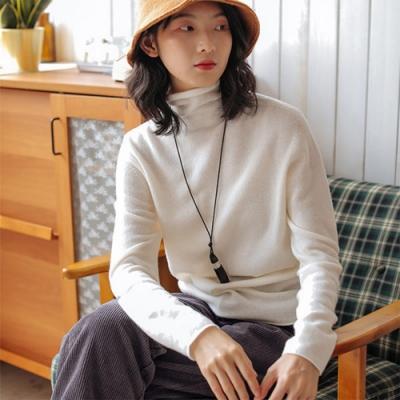 一線成衣高端無縫工藝100羊毛半高領毛衣-設計所在