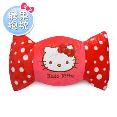 Hello Kitty 凱蒂貓 糖果造型抱枕/午安枕/腰靠枕/汽車枕/靠墊