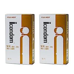 FUJI-NEO ICONDOM 艾康頓 精采三重奏 衛生套 保險套 12入/盒x2盒