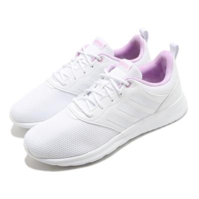 adidas 慢跑鞋 QT Racer 2 運動 女鞋 愛迪達 三線 基本款 百搭 球鞋 白 紫 FY8316