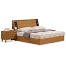 時尚屋  柏得溫柚木床箱型6尺雙人床(不含床頭櫃-床墊)-免組裝