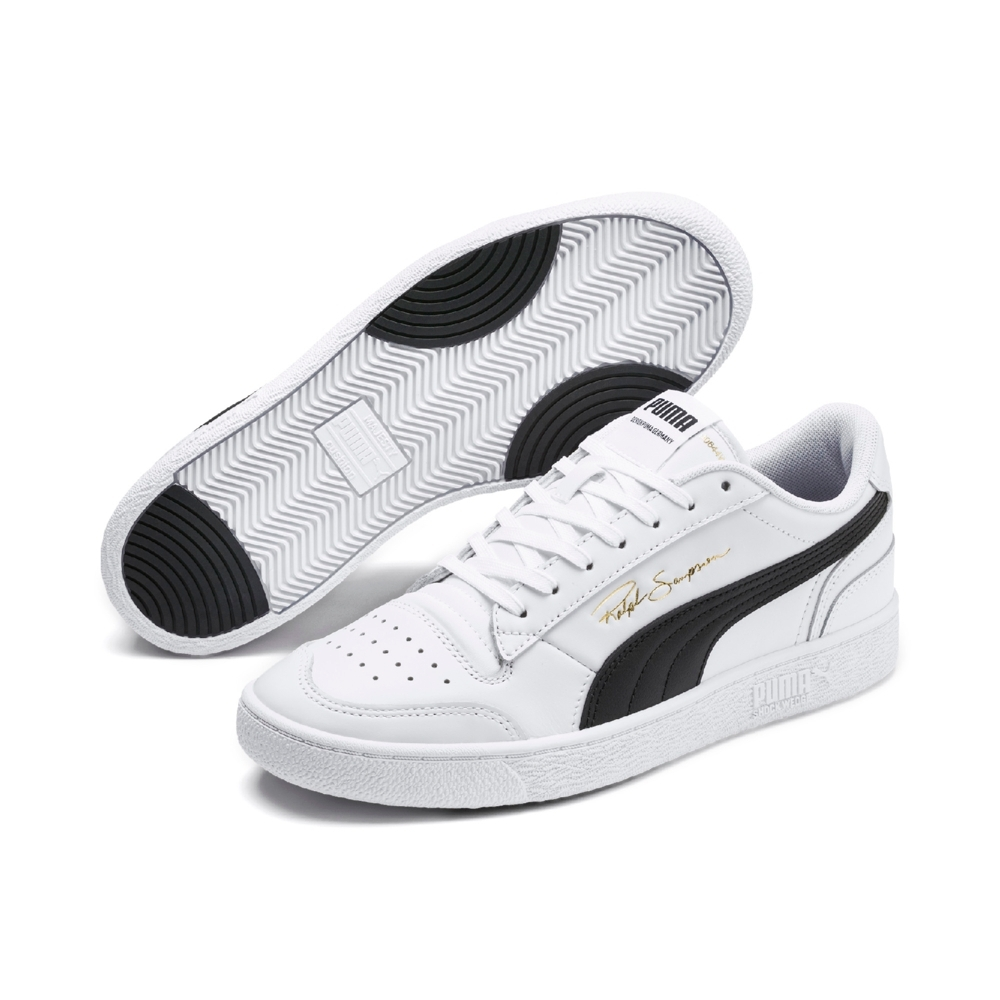 PUMA-Ralph Sampson Lo 男女復古籃球運動鞋-白色