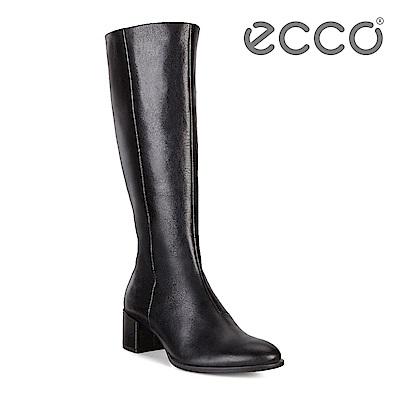 ECCO SHAPE 35 BLOCK 經典優雅方跟全牛皮高筒靴 女-黑