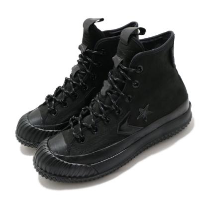 Converse 休閒鞋 Bosey MC GTX 運動 男女鞋 高筒 靴款 情侶穿搭 簡約 反光 防潑水 黑 169368C