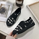 KEITH-WILL時尚鞋館 經典花樣年華豹紋格紋休閒鞋-黑 product thumbnail 1