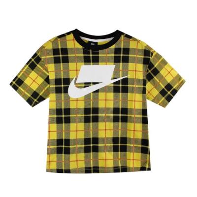 Nike 女 NSW NSP TOP SS GFX AOP 圓領T(短)