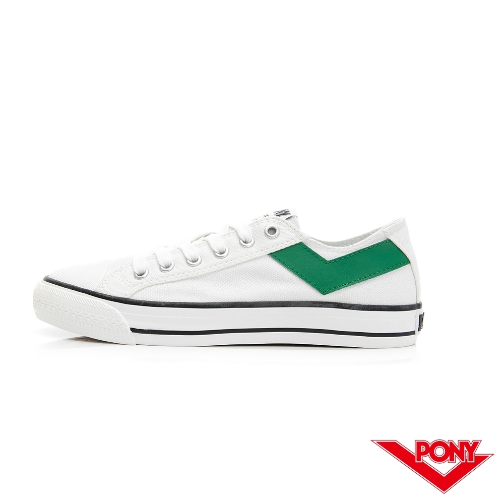 【PONY】Shooter復古帆布鞋 女鞋 白/綠色