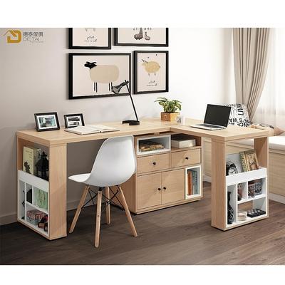 D&T 德泰傢俱  Buck原切色5.3尺L型功能桌組 寬160×深120×高75cm