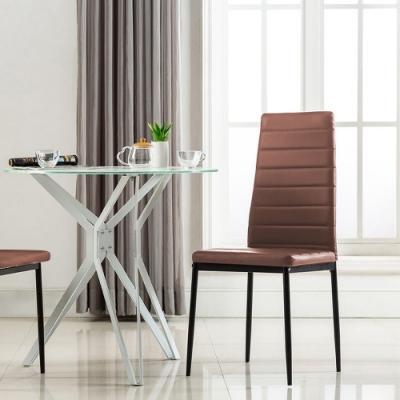 E-home 四入組 Mano曼諾經典高背餐椅 三色可選
