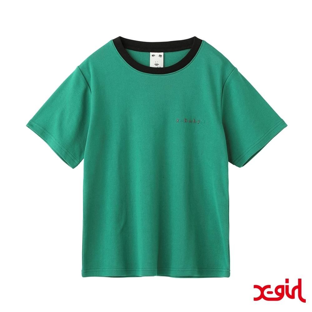 X-girl XGBS SOLID TEE短袖T恤-綠